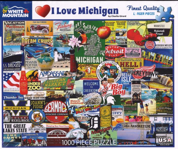 I Love Michigan Puzzle